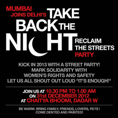 Take back the night India